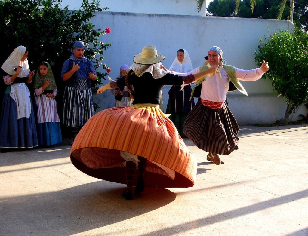 Dancing majorcan people